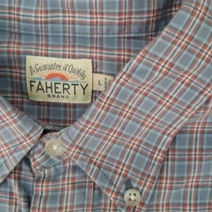 Faherty casual button down shirt size large